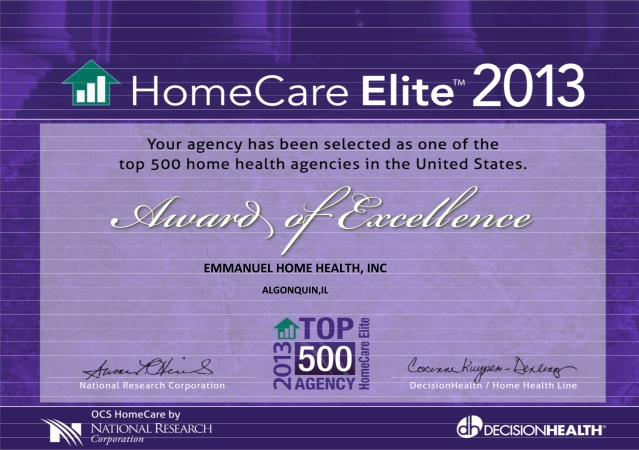 Home Care Elite of 2013