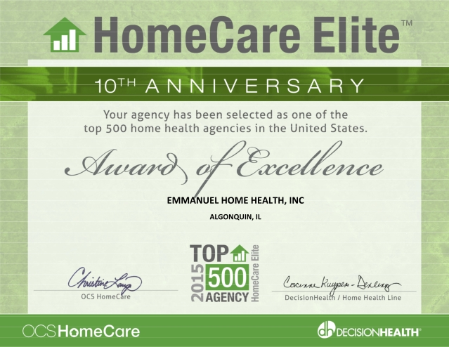 Home Care Elite of 2015