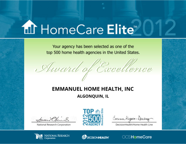 Home Care Elite of 2012