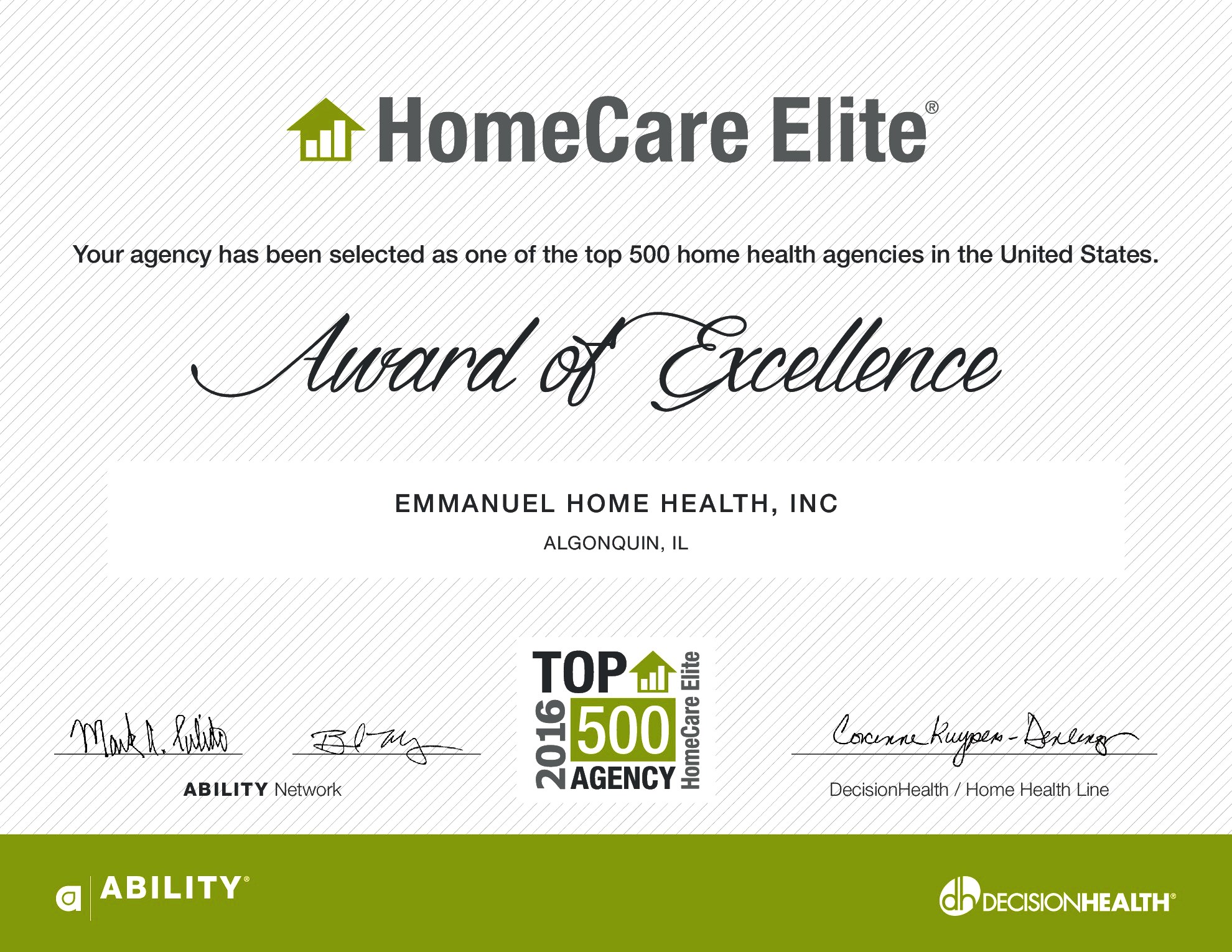 Home Care Elite of 2016